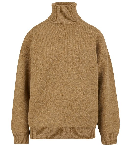 Celine Double-faced virgin wool and cashmere roll-neck jumper in sand