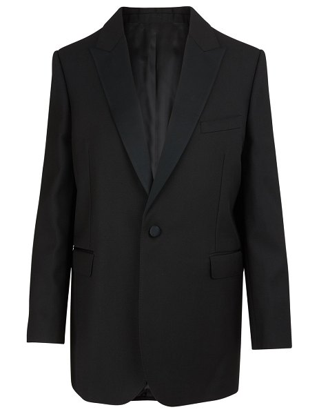 Celine Long rectangle grain de poudre jacket in black