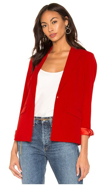 Central Park West X REVOLVE Blazer in red - Self: 93% poly 7% spandexLining: 100% poly. Dry clean...