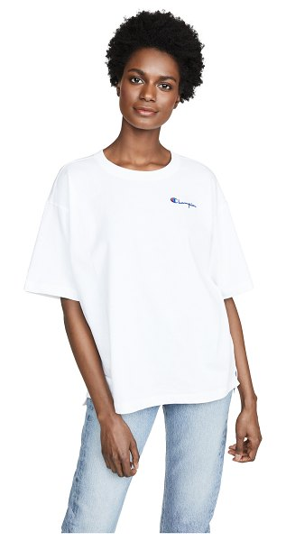 Champion Premium Reverse Weave crew neck t-shirt in white