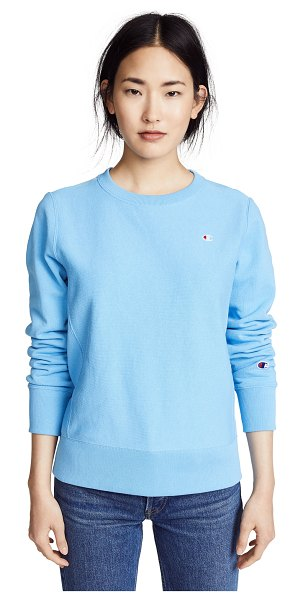CHAMPION PREMIUM REVERSE WEAVE crewneck sweatshirt - Fabric: French terry Embroidered logo patch Sweatshirt...