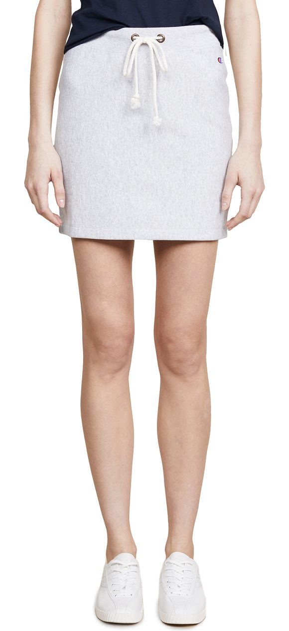 CHAMPION PREMIUM REVERSE WEAVE skirt - Fabric: Terrycloth Ribbed trim Miniskirt Covered elastic...