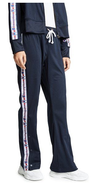 Champion Premium Reverse Weave straight hem pants in navy - Fabric: Plain weave Logo side banding Flare silhouette...