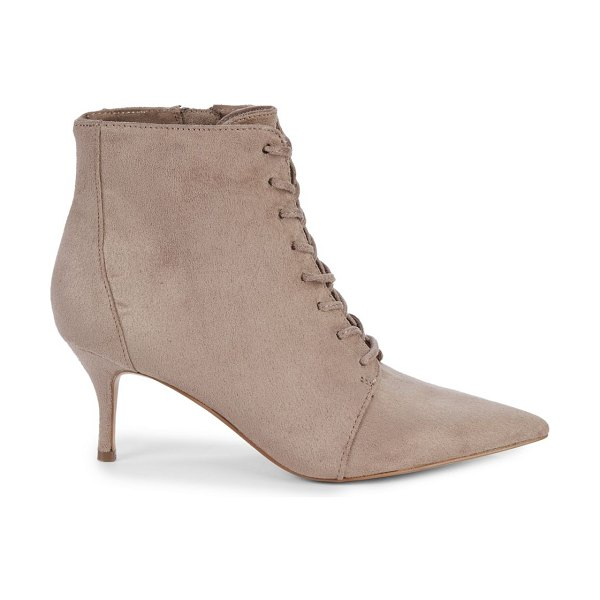 Charles by Charles David Award Lace-Up Booties in taupe