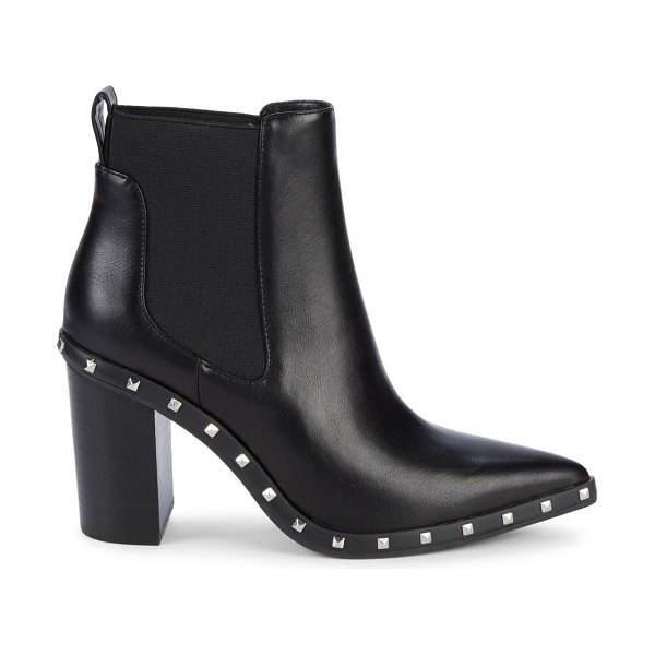 Charles by Charles David Dodger Studded Point-Toe Booties in black