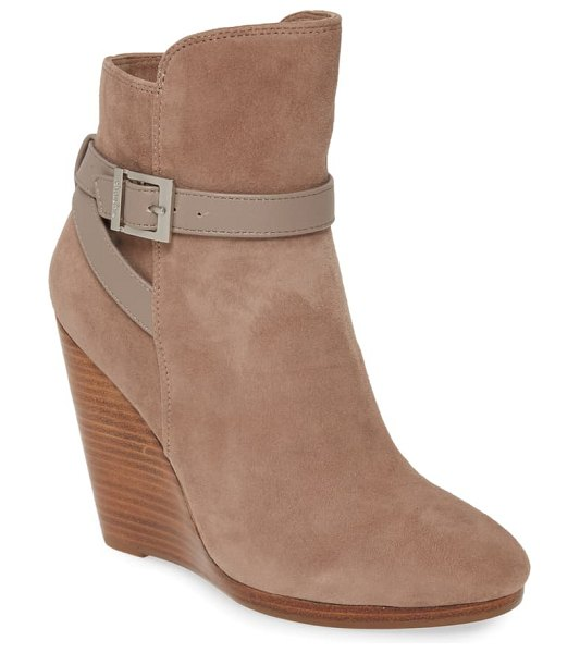 Charles by Charles David hades wedge bootie in taupe suede