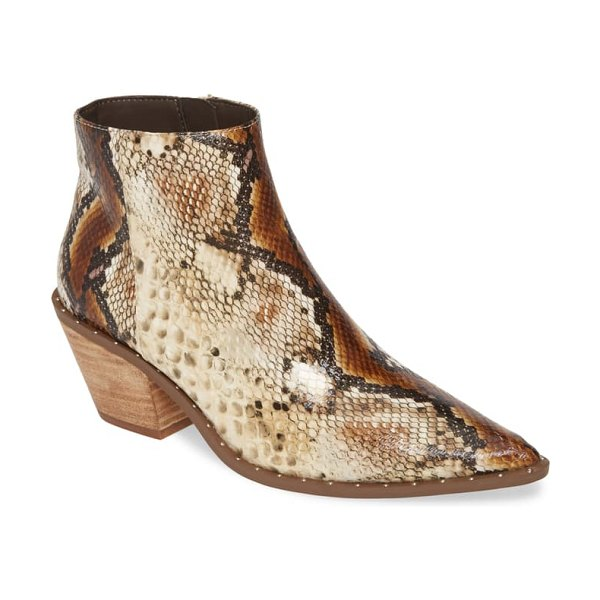 Charles by Charles David plato bootie in brown/ white snake print