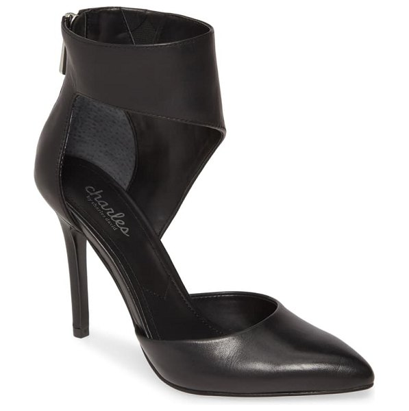 Charles by Charles David proud d'orsay pump in black leather