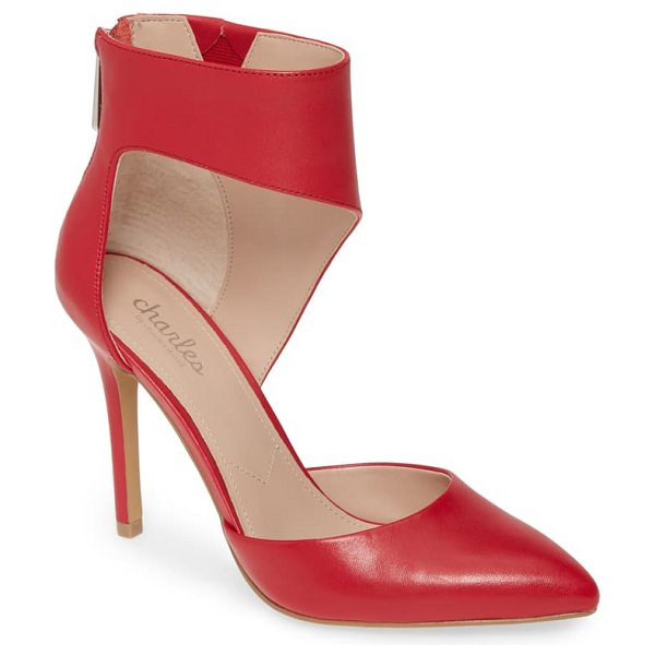 Charles by Charles David proud d'orsay pump in dark cherry leather