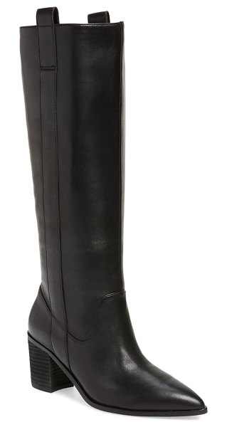 Charles David exhibit knee high boot in black leather