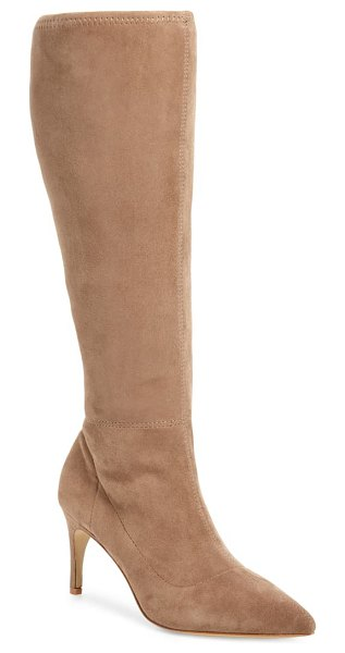Charles David phenom knee high boot in taupe suede