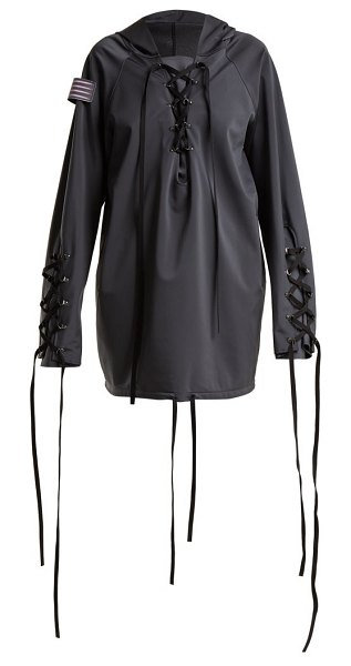 CHARLI COHEN Renegade Lace Up Shell Jacket in dark grey - Charli Cohen - Charli Cohen's high-performance...