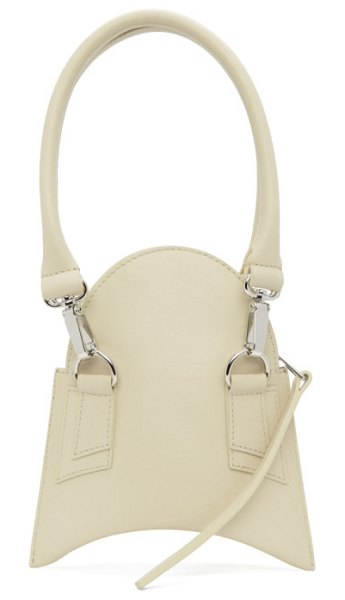 Charlotte Knowles off-white fang bag in beige