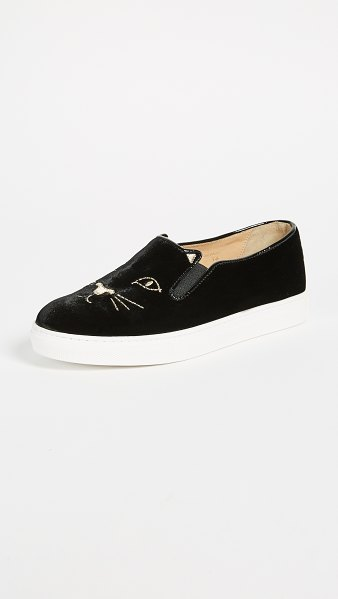 Charlotte Olympia cool cats sneakers in black