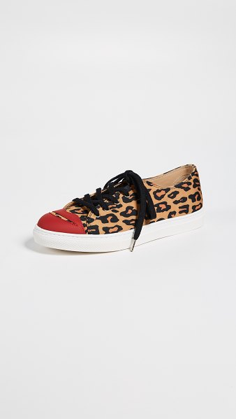 Charlotte Olympia kiss me sneakers in leopard