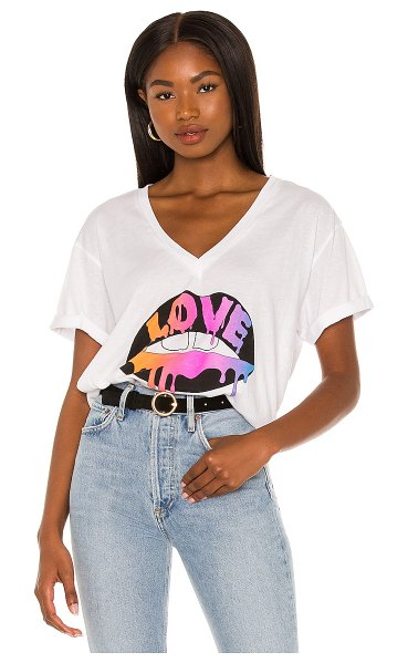 Chaser love vintage jersey tee in white