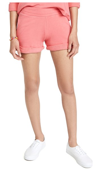 Chaser slub french terry rolled hem shorts in sunrise