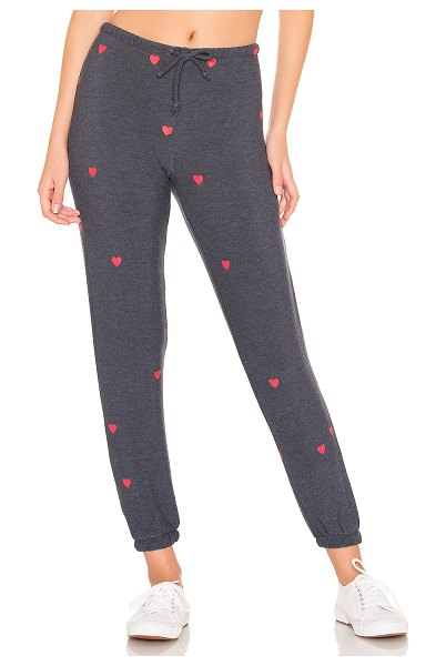 Chaser tiny hearts sweatpants in avalon