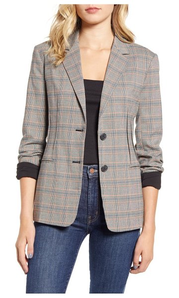 Chelsea28 darted check blazer in black- white nerissa check
