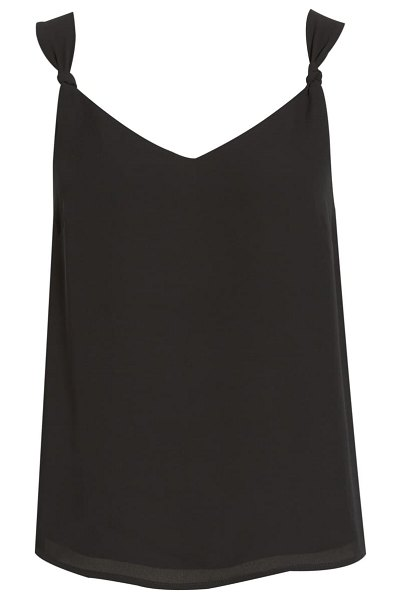 Chelsea28 knot strap crop top in black