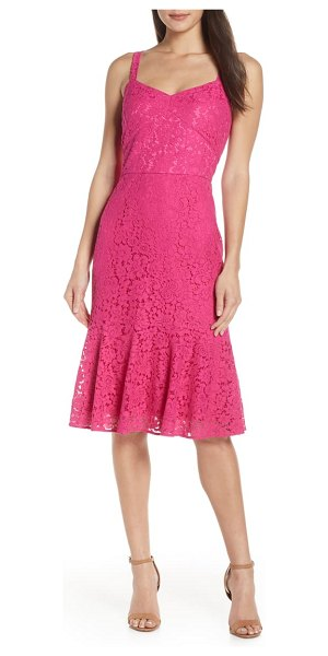 Chelsea28 sleeveless lace fit & flare dress in magenta