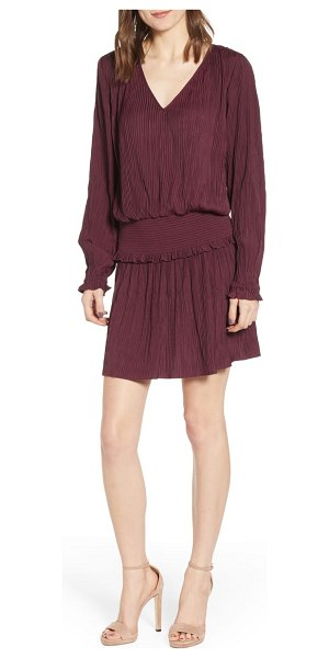 Chelsea28 smock waist crinkle dress in burgundy - A perfect all-occasion dress, this crinkle-pleated mini...