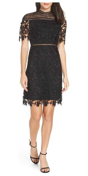 Chi Chi London adita crochet lace cocktail dress in black - It's not possible to look anything other than alluring...