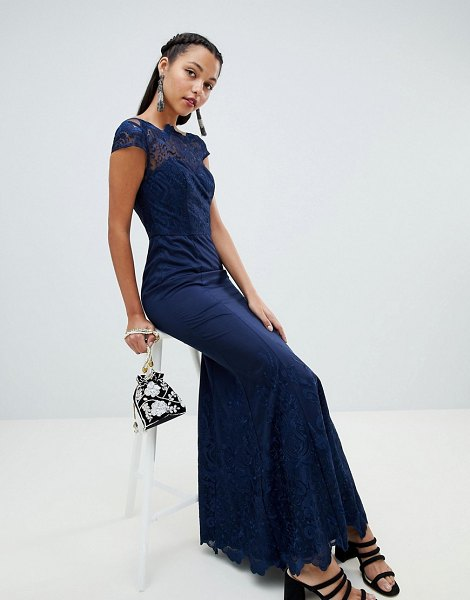Chi Chi London premium lace maxi dress in navy - Maxi dress by Chi Chi London, For that thing you have to...