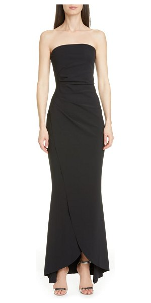 Chiara Boni La Petite Robe chiharu strapless high/low gown in black