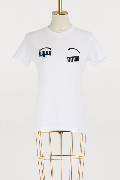 Chiara Ferragni Flirting cotton T-shirt in white - Chiara Ferragni knows what young, modern women want and...