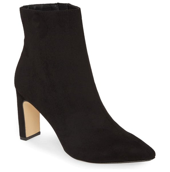 Chinese Laundry erin bootie in black faux suede