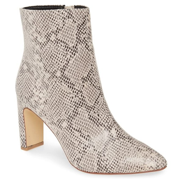 Chinese Laundry erin bootie in cream/ black faux leather