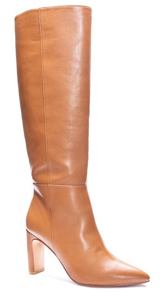Chinese Laundry evanna pointed toe boot in camel leather
