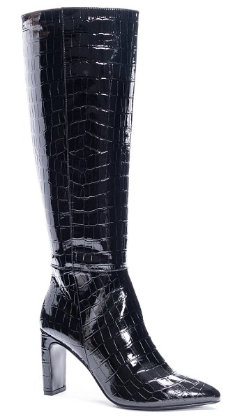 Chinese Laundry evanna pointed toe boot in black faux leather