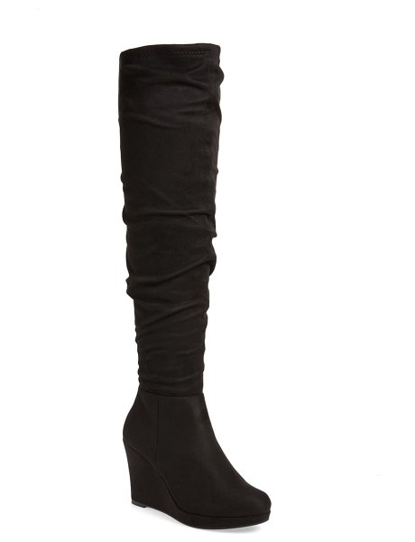 Chinese Laundry larisa over the knee boot in black suede