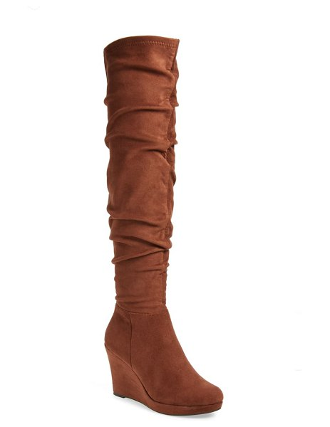 Chinese Laundry larisa over the knee boot in oak brown suede