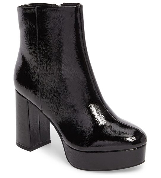 CHINESE LAUNDRY nenna platform bootie - A superchunky platform and half-moon block heel update...