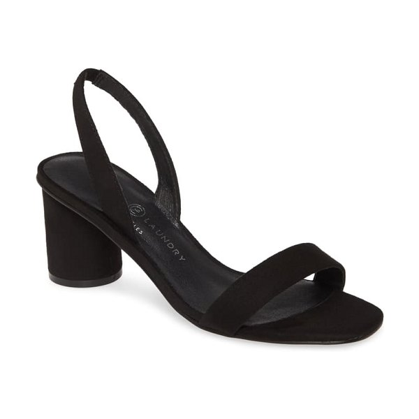 Chinese Laundry yumi slingback sandal in black suede