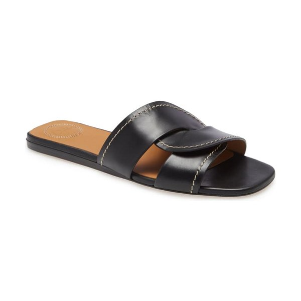 Chloe candice slide sandal in black
