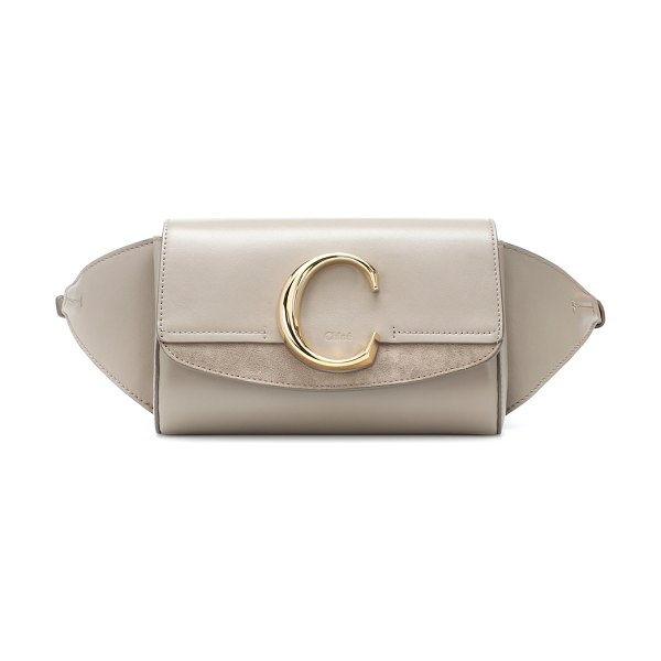 Chloe Chloé C leather belt bag in grey - The Chloé C belt bag is a versatile style that will...