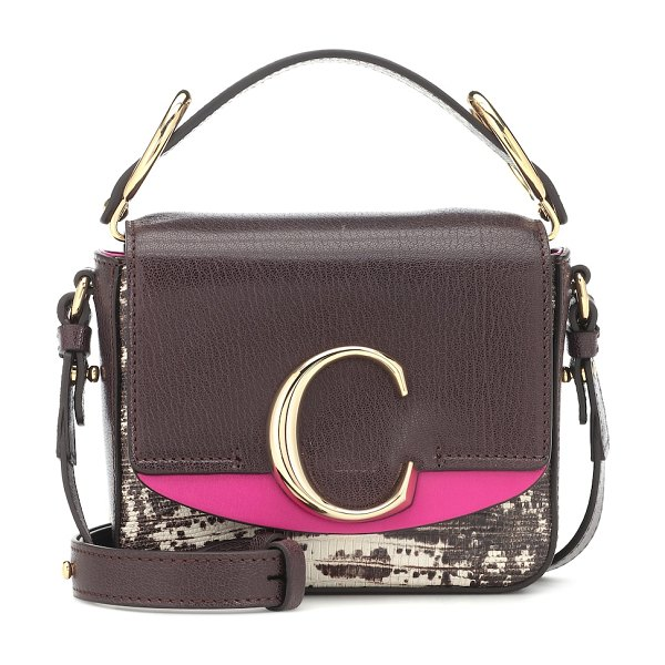 Chloe chloé c mini leather shoulder bag in brown - The newest member of Chloé's bag family, the C,...