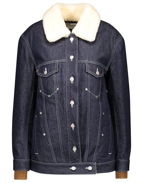 Chloe Denim jacket with logo in blue - blue 1