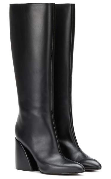 Chloe leather knee-high boots in black