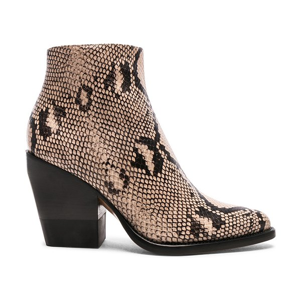 Chloe python print ankle boots in eternal grey