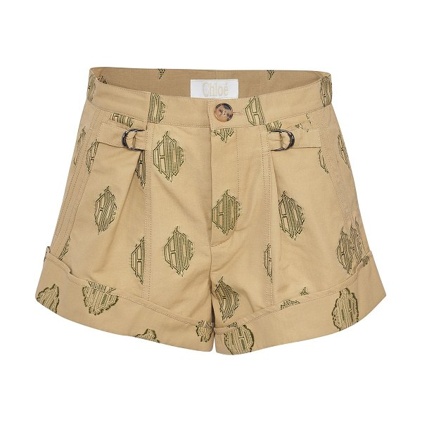 Chloe Shorts in chestnut cream
