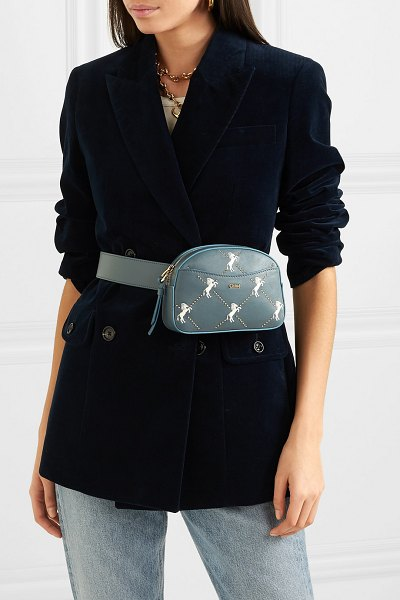 Chloe signature embroidered leather belt bag in blue - Readers of PorterEdit will know that belt bags have been...