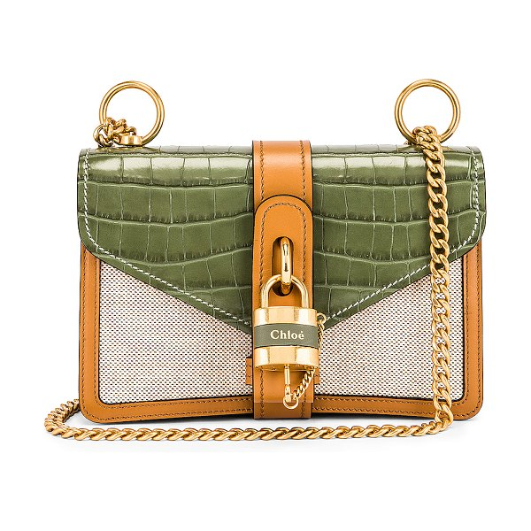 Chloe small aby chain shoulder bag in misty forest