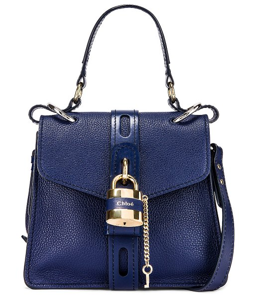 Chloe small aby day bag in captive blue