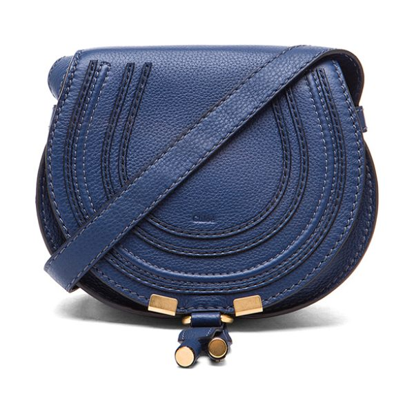 "CHLOE Small Marcie Satchel - ""Genuine calfskin leather with canvas lining and gold-tone..."