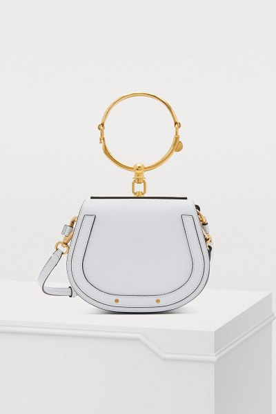 Chloe Small Nile bracelet bag in light cloud